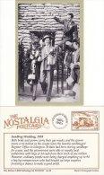 Postcard WW2 Sandbag Wedding 1939 Register Office Islington London Nostalgia Repro - Marriages