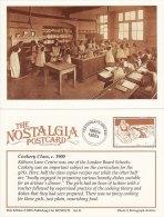 Postcard Victorian Cookery Class Kilburn Lane Centre London Children Nostalgia Repro - Schools