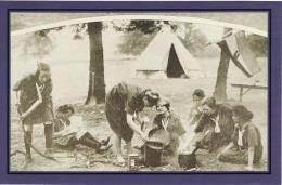 Postcard Danish Girl Guides Lord Waring Estate London 1922 Children Nostalgia - Scouting