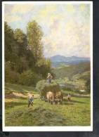 H991 Paul Hey : Heuernte - Haymaking - La Fenaison - Timbre: Reisepostchechs Sind Sicher... 1953 - Peintures & Tableaux