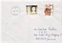 Estonia Cover With Odd Stamp - Schrijvers