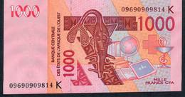 W.A.S. SENEGAL   P715Kg  1000 FRANCS  2009   AUNC. - Sénégal