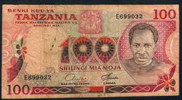 TANZANIA P8c   100  SHILLINGS    1977   Signature 6  FINE NO P.h. ! - Tanzania