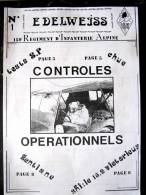 LIVRE - REVUE - JOURNAL N�1 L'EDELWEISS DU 159� RIA BRIANCON DE 1986 ETAT EXCELLENT