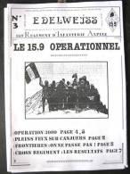 LIVRE - REVUE - JOURNAL N�3 L�EDELWEISS DU 159� RIA BRIANCON DE 1986 ETAT EXCELLENT