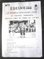 LIVRE - REVUE - JOURNAL N�7 L�EDELWEISS DU 159� RIA BRIANCON DE 1987 ETAT EXCELLENT