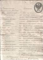 Russia Russland Russie 1857 Passport Reisepass Shamakha Province (Azerbaijan) RARE !!! - Historische Dokumente