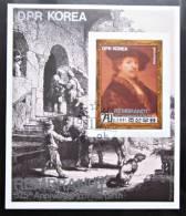 Briefmarke Korea North1981 Rembrandt Block Kleinbogen - Rembrandt