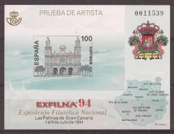 ESPO33-L1764THC.España. Spain.Espagne.Gran Canarias .EXFILNA .1994.(Ed  PO 33) Sin Charnela. LUJO - Hojas Conmemorativas