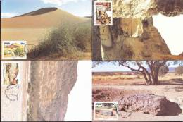 South West Africa SWA - 1988 - Landmarks, Dunes, River, Meteorite, Space Rock - Complete Set Maximum Cards - Afrique Du Sud-Ouest (1923-1990)