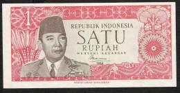 INDONESIA  P80a  1  RUPIAH   1964 With Printer !     UNC. - Indonésie