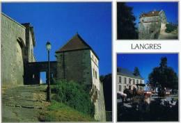 8/52 - CPM LANGRES - Sous Les Remparts - Tour Saint-Jean Et Promenade En Calèche - Langres