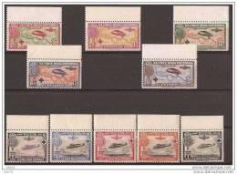 ES339-L3939 España Spain Espagne CRUZ ROJA 1ª AEREA. Aviones.1926 (Ed 339/48**).sin Charnela BORDE DE HOJA.Magnifica - Aviones