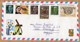 Enveloppe Affranchissement Philatélique Mallorca à Vervicers Belgique - 2 Scan - 1931-Hoy: 2ª República - ... Juan Carlos I
