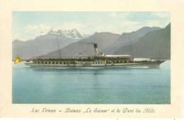 Lac Léman - Bateau La Suisse + Ca. 1910  (6825) - GE Ginevra