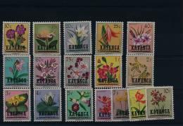 KATANGA FLOWERS COB 23/39 MNH - Katanga