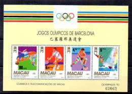 Macao 1992, Jeux Olympiques De Barcelone, BF 18**, Cote 27,50 €, - Summer 1992: Barcelona