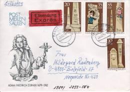 DDR Eil-Brief Mi.-Nr. 2853-2856 - Stempel Tangerhütte (0143) - Storia Postale