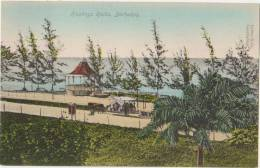 CPA BARBADES BARBADOS B.W.I. Hastings Rocks Band Stand Kiosque à Musique Tinted - Barbados