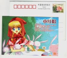 Little Red Riding Hood,Comics Character,CN06 World Famous Fairy Tale Story Germany Grimms´ Fairy Tales Pre-stamped Card - Fairy Tales, Popular Stories & Legends