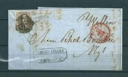 Nr 6 Gestempeld P33 Op Brief Van Dinant Naar Wellin 13/02/1857 (GA9157) - 1851-1857 Médaillons (6/8)