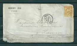 Nr 68 Op Brief Van Paris Naar Hamme (Belgique) 28/10/1879 (GA9218) - 1876-1878 Sage (Typ I)