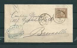 Nr 69 Op Brief Van Lille Naar Bruxelles (Belgique) 07/07/1877 (GA9220) - 1876-1878 Sage (Typ I)