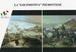 """[DC1464] CARTOLINEA - 150° ANNO UNITA´ D´ITALIA - LA """"LOCOMOTIVA"""" PIEMONTESE - BATTAGLIA DI CRIMEA (40) - Storia"""
