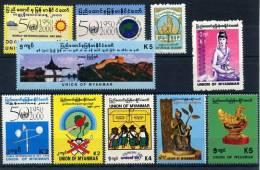 MY053. MYANMAR / BURMA. Mint Stamps / Timbres Neufs - Drugs, Great Wall, Sculpture, Metereological, School, Art - Myanmar (Burma 1948-...)