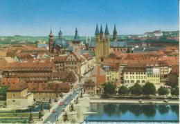 GERMANIA--BAYERN--WURZBURG MARIENBRUCKE MIT BLICK ZUM DOM--FG--V 26-8-69 - Wuerzburg