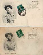 L'ageneso 18 Ter Agen - Coiffure Du Pays X 2 (calligraphie Différente) - Agen