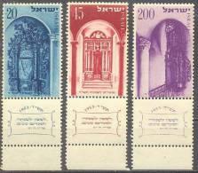 1953 New Year (5714)  Bale 88-90 / Sc 75-77 / Mi 89-91 FullTAB MNH / Neuf / Postfrisch [gra] - Israël