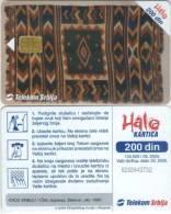 Telefonkarte Serbien  - Tradition - Teppich - Jugoslawien