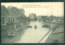 Inondations De Janvier 1910 - 6 - Fin D'oise - Maurecourt - Quai De Maurecourt  - Bck54 - Maurecourt