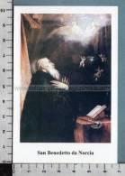 Xsb905 SAN BENDETTO DA NORCIA Santino Holy Card - Religione & Esoterismo