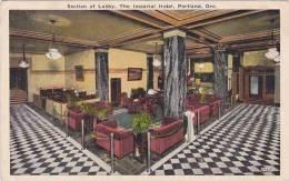 Oregon Portland Lobby Imperial Hotel