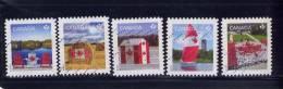 CANADA, 2013, USED SET, CANADIAN PRIDE: CHAIRS, HAY BALE, SPINNAKER, LIVING FLAG, FISHING HUT - 1952-.... Règne D'Elizabeth II