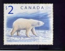 CANADA, 1998, USED # 1690, POLAR BEAR        USED - 1952-.... Règne D'Elizabeth II