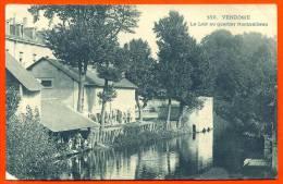 VENDOME - Loir Au Quartier Rochambeau ( Soldats XXeme Chasseurs Au Lavoir ) Carte Bleutée Glacée ( L65 ) - Vendome