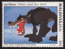 Maldivas 1993 Scott 1924 Sello ** Walt Disney Escenas De Peter And The Wolf 1Rf Maldives Stamps Timbre Maldives Briefmar - Disney