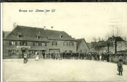 67 CPA Zinswiller Gruss Restaurant Au Boeuf  Animée - France