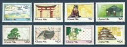 Ghana 1992 ( Phila Nippon '91 - Geisha, Samurai, Olympic Hall & Buddha ) - Complete Set - MNH (**) - Buddhism