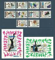 Ghana - 1992 - ( Sports - 1992 - Summer Olympics, Barcelona ) - Complete Set With 2 S/S - MNH (**) - Olympische Spiele