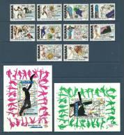 Ghana - 1992 - ( Sports - 1992 - Summer Olympics, Barcelona ) - Complete Set With 2 S/S - MNH (**) - Pugilato