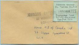 1971 EMERCENCY PRIVATE MAIL SERVICE) STRIKE POST JONSON GROVER LONDON SCIOPERO POSTE BUSTA (5517 - 1952-.... (Elisabetta II)