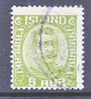 Iceland 112  (o) - 1873-1918 Danish Dependence