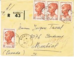 A.O.F. Postal History  Registered NIAMEY Cover To Canada - A.O.F. (1934-1959)