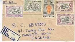 Nigeria Postal History  Registered OWO Cover To U.K. - Nigeria (...-1960)