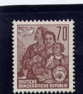 DDR, 1955,  MNH, # 230A, DOVE & EAST GERMAN FAMILY - [6] République Démocratique