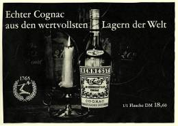 Reklame Werbeanzeige  -  Hennessy Cognac ,  Echter Cognac Aus Den Wertvollsten Lagern ,  Von 1965 - Alkohol